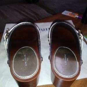 Louis Vuitton Shoes - Louis Vuitton Patent monogram clogs